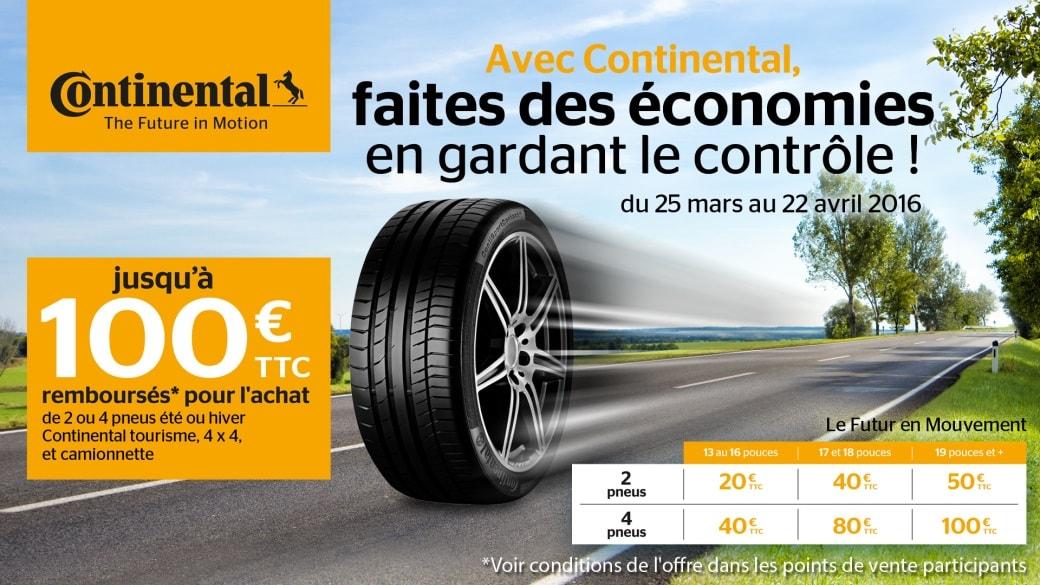 pneu continental promo