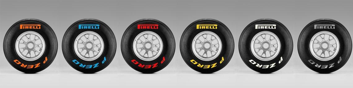 pneu pirelli f1 couleur